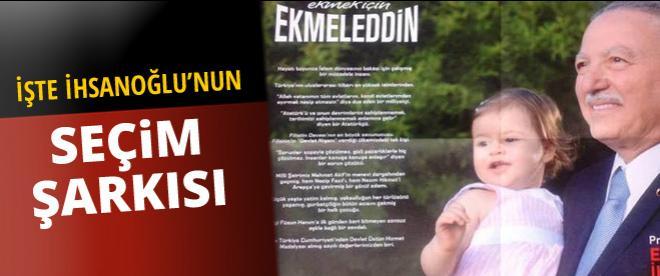 İhsanoğlu'nun seçim şarkısı