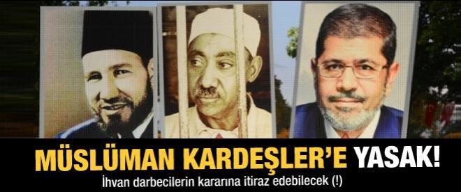 Müslüman Kardeşler'e yasak