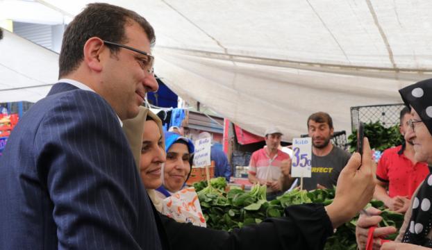 İmamoğlu, Şirinevler Pazarında vatandaşlarla buluştu