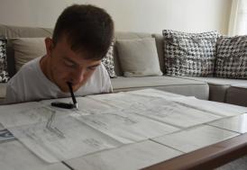 Hayallerini gerçekleştirebilmek için inşaat mühendisi oldu!