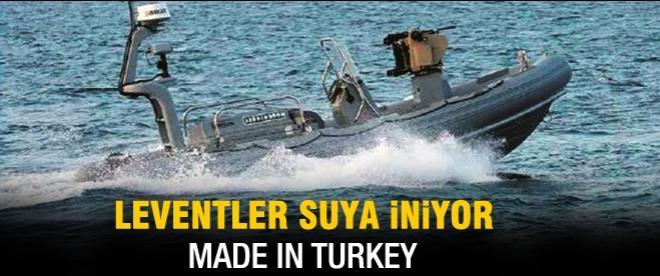 İnsansız deniz aracı Levent suya iniyor