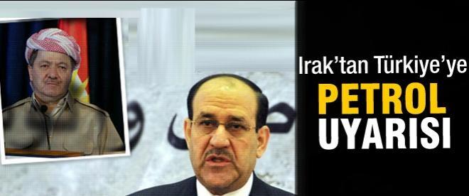 Bağdat'tan Ankara'ya petrol uyarısı