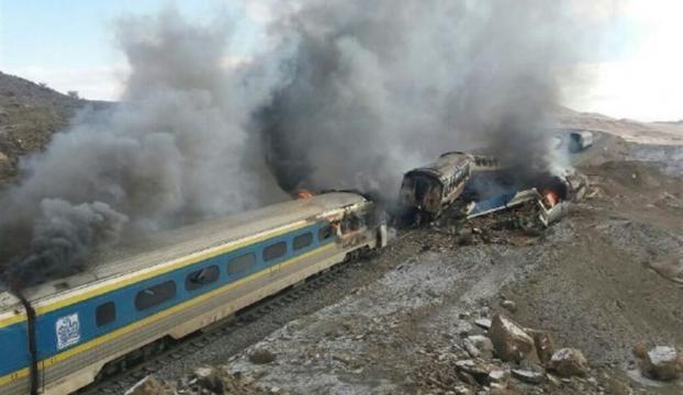 İrandaki tren kazası