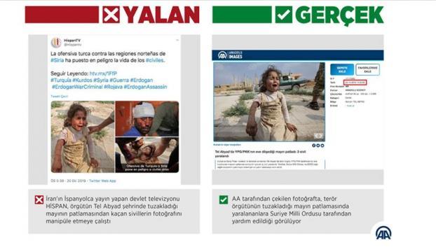 """İran televizyonu """"YPG/PKKnın tuzakladığı mayını"""" harekat aleyhine çarpıttı"""