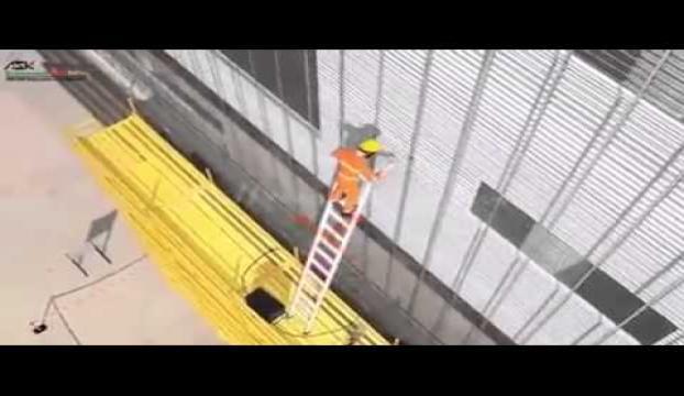 İnşaatta düşen iş güvenliği uzmanı yaralandı