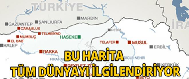 IŞİD'in haritası ürkütüyor