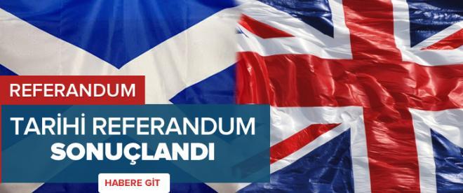 İskoçya, Birleşik Krallık'tan ayrılmama kararı aldı