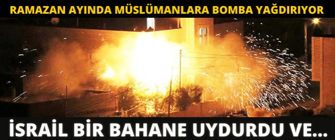İsrail yine Ramazan ayında Gazze'ye saldırdı!