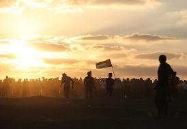 İsrail'den Gazze'deki barışçıl göstericilere hava saldırısı