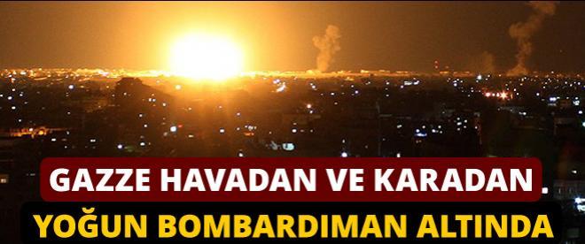 İsrail ordusu Gazze'ye karadan ve havadan saldırıyor