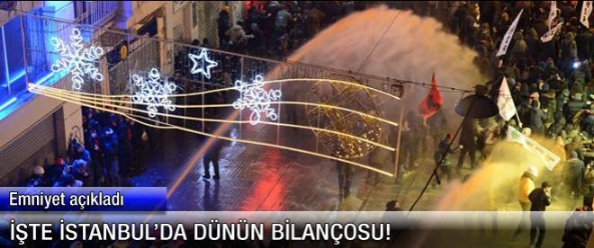 İşte İstanbul'a dünkü eylemin faturası