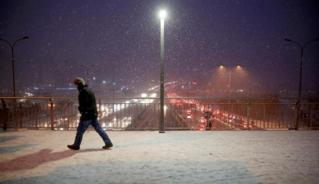 İstanbulda kar yağışı etkili oluyor