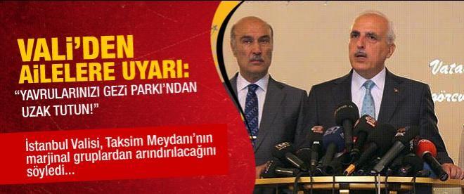 Vali Mutlu'dan Gezi Parkı açıklaması
