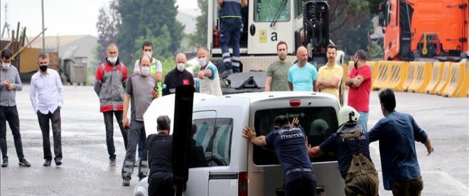 İstanbulda sağanak etkili oldu