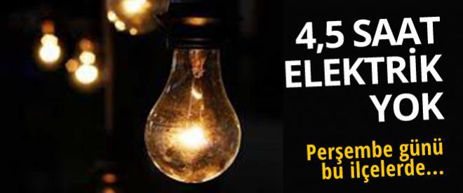 İstanbul'da 4,5 saat elektrik yok!