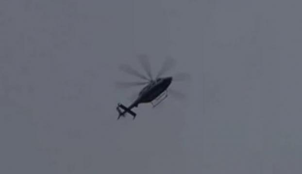 Helikopter karayoluna indi, tır şöförlerine ne sordu?