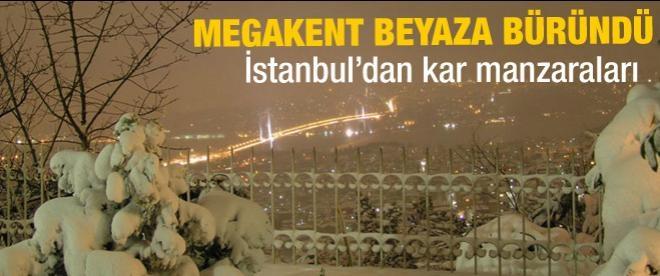 İstanbul'dan kar manzaraları