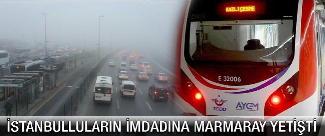 İstanbulluların imdadına Marmaray yetişti