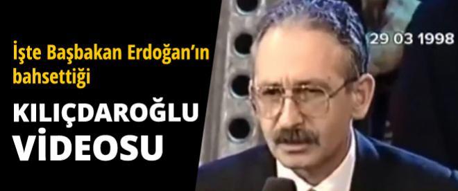İşte Başbakan'ın bahsettiği Kılıçdaroğlu videosu