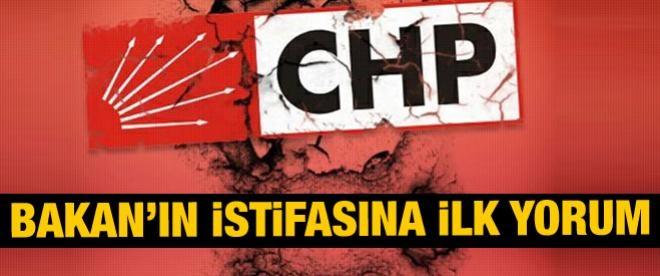 Bakanın istifasına CHP'den ilk yorum