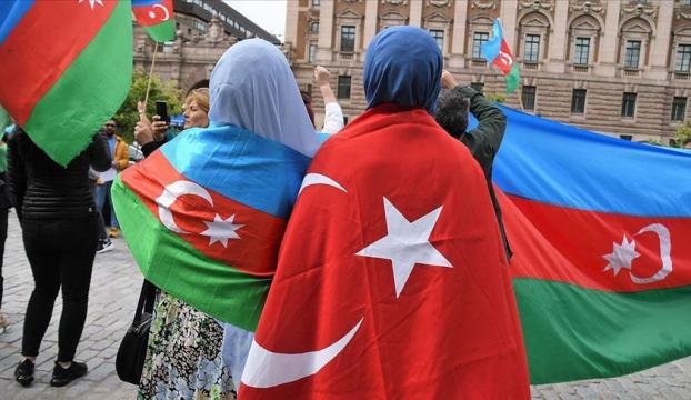 Ermenistanın saldırıları İsveçte protesto edildi