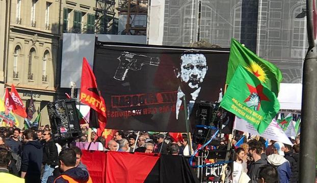 İsviçrede oldu! Terör örgütü Erdoğanı hedef gösterdi!