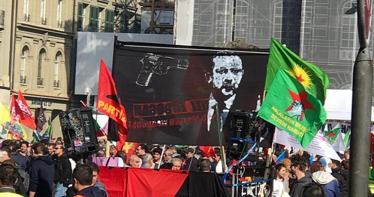 İsviçre'de oldu! Terör örgütü Erdoğan'ı hedef gösterdi!