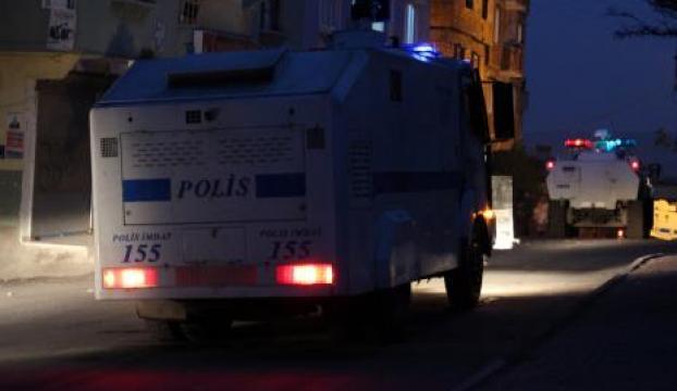 İzinsiz gösteriye polis müdahalesi