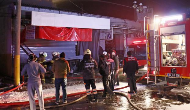 İzmirde iş yeri yangını: 1 ölü