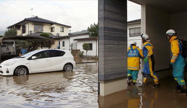Japonya'da tayfunda yaşamını yitirenlerin sayısı 77'ye çıktı