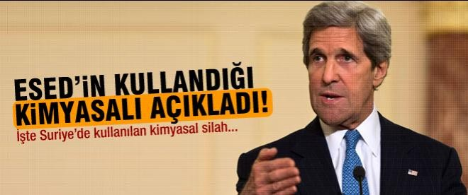 Kerry: Suriye'de Sarin gazı kullanıldı