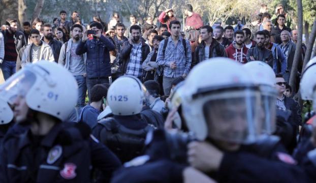 Üniversitede Uludere gerginliği: 100 gözaltı