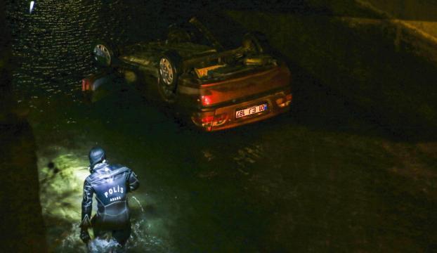 Sulama kanalına düşen otomobilin sürücüsü öldü