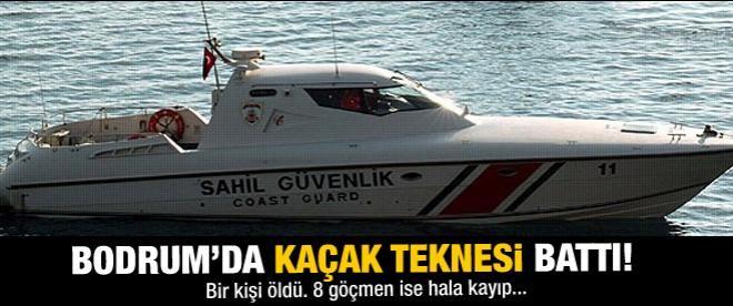 Kaçak teknesi battı: 1 ölü 8 kayıp