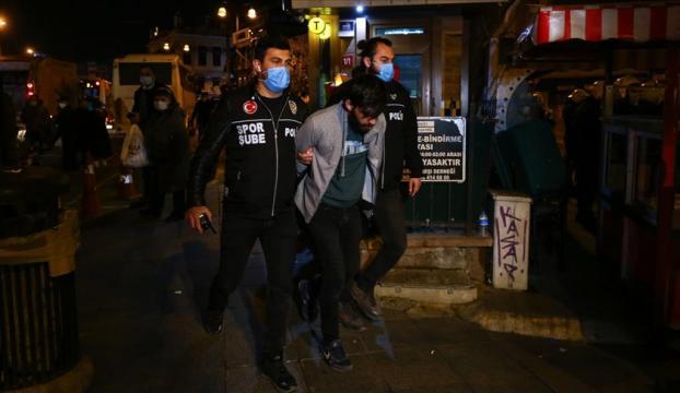 Kadıköy'deki yasa dışı gösteride 65 kişi gözaltına alındı