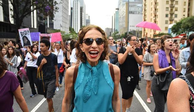 Sao Pauloda Dünya Kadınlar Günü Yürüyüşü