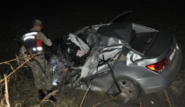 Kadirlide kaza: 1 ölü, 2 yaralı