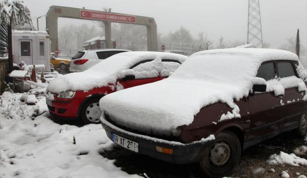 Kırklarelinin yüksek kesimlerinde kar!