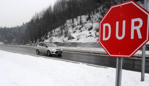 Bolu Dağında kar yağışı etkisini artıyor