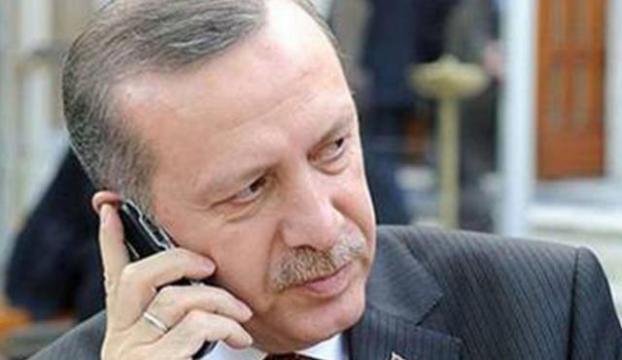Erdoğan direk telefona sarıldı