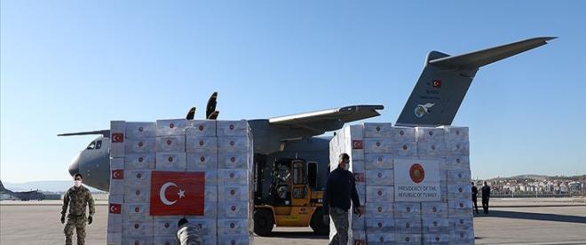 Türkiyeden ABDye tıbbi malzeme yardımı