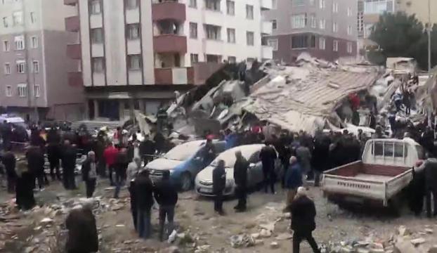 İstanbul-Kartalda 7 katlı bina çöktü