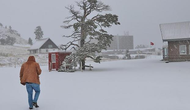 Trakyada kar yağışı başladı