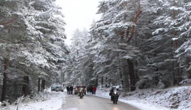 Karatlkayada kar yağışı başladı