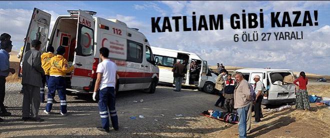 Afyonkarahisar'da trafik kazası: 7 ölü, 27 yaralı