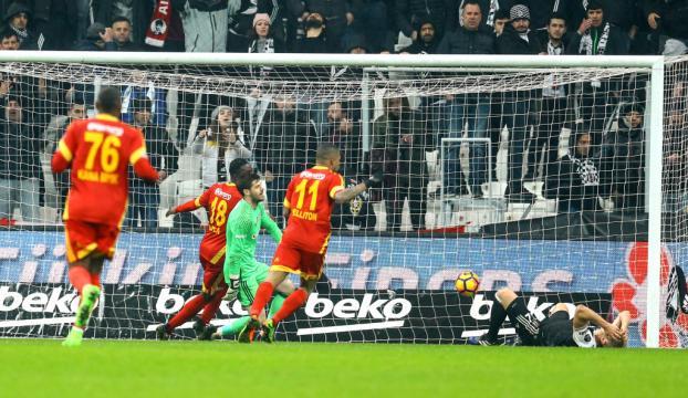 Kayserispor Beşiktaştan 1 puanı kopardı