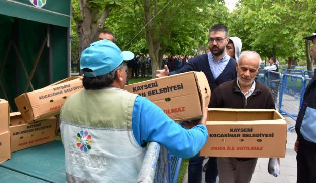 Kayseride 550 bin organik fide dağıtıldı