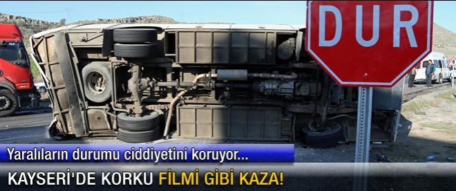 Kayseri'de korku filmi gibi kaza!