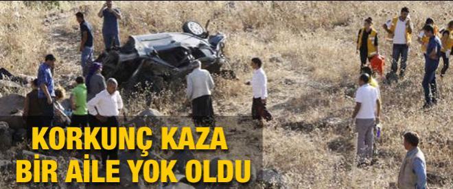 Korkunç kaza: Bir aile yok oldu