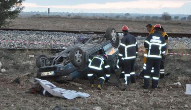 Tren yolunda korkunç kaza
